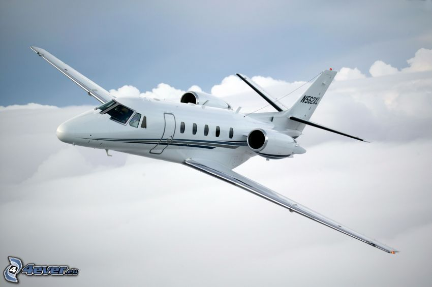 Citation X - Cessna, over the clouds