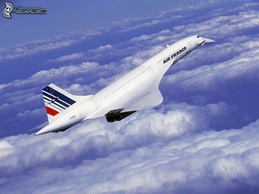 Concorde, Air France, clouds