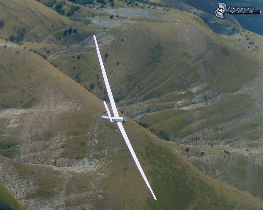 glider, hill