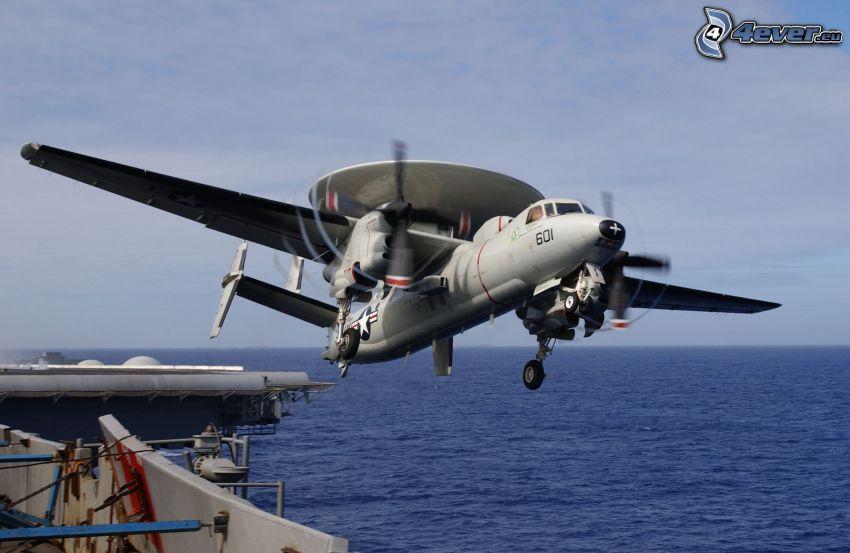 Grumman E-2 Hawkeye, open sea