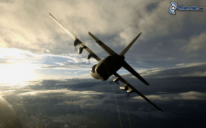 Lockheed C-130 Hercules, silhouette of the aircraft