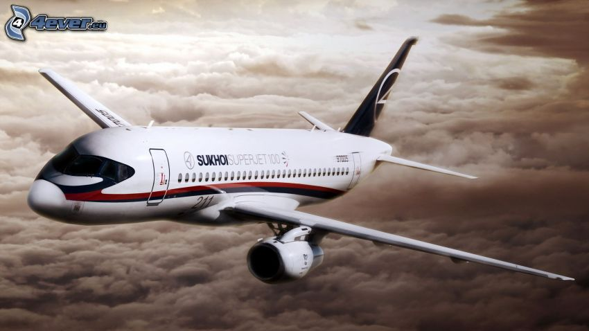 Sukhoi Superjet 100, over the clouds