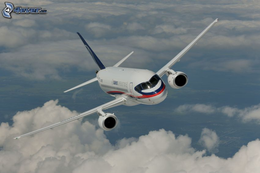 SuperJet 100, over the clouds