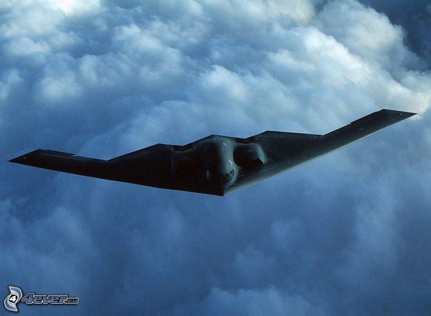 B-2 Spirit, over the clouds