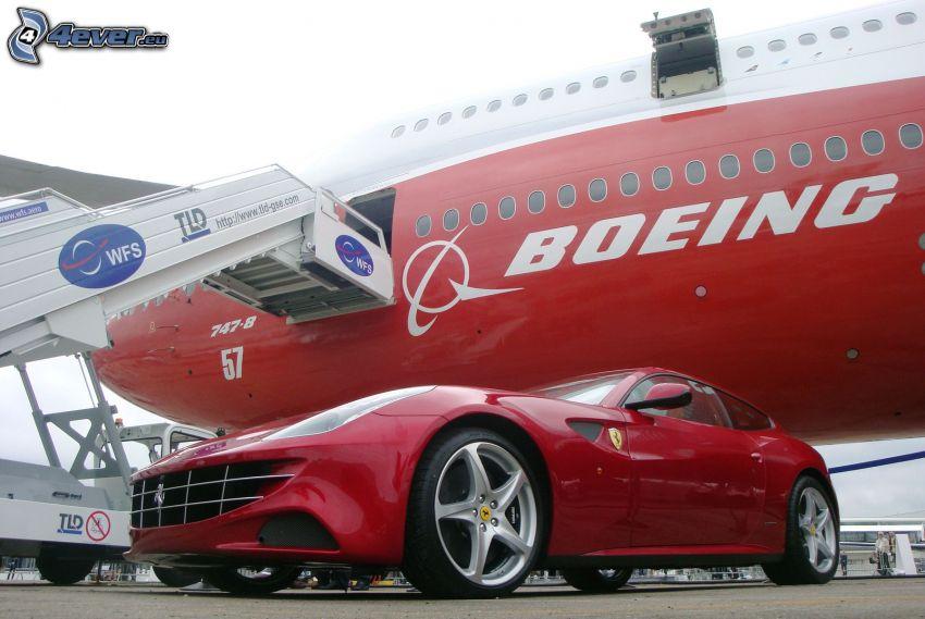 Boeing 747, Ferrari
