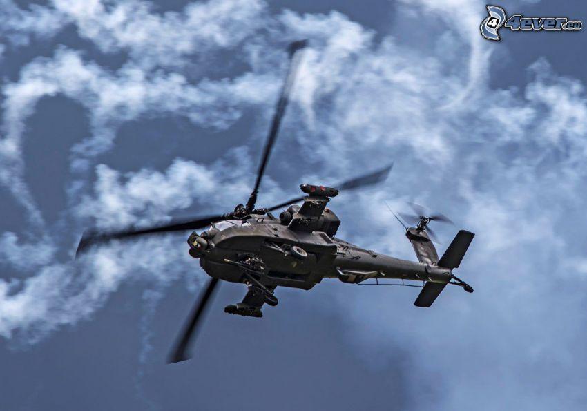 AH-64 Apache, clouds