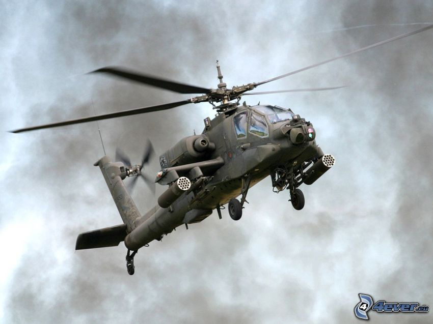 AH-64 Apache, dark clouds