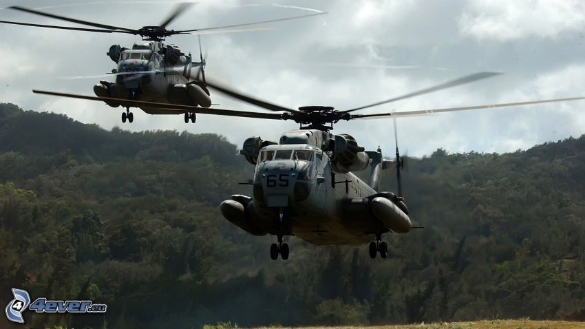 CH-53 Sea Stallion, military helicopters