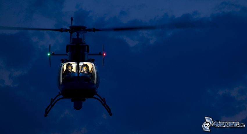 helicopter, night