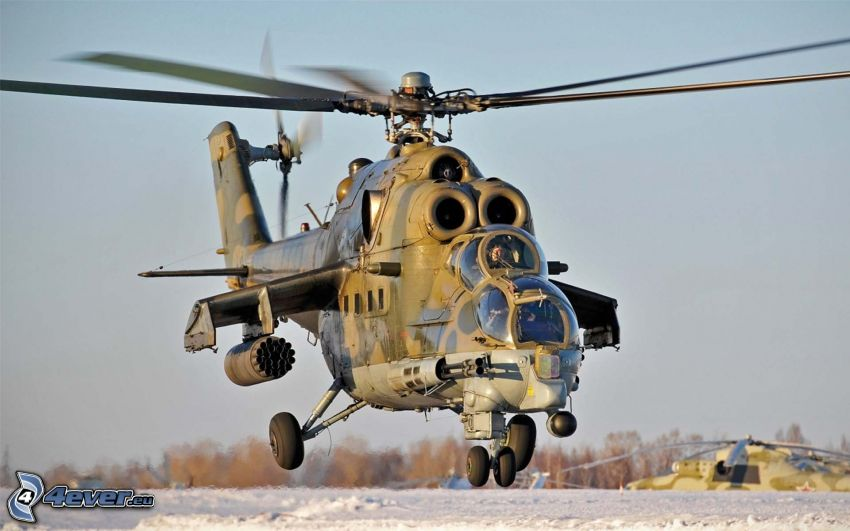 Mil Mi-24, military helicopter