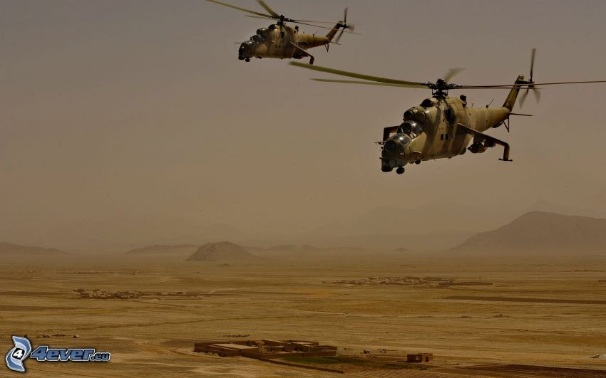 Mil Mi-24, military helicopters