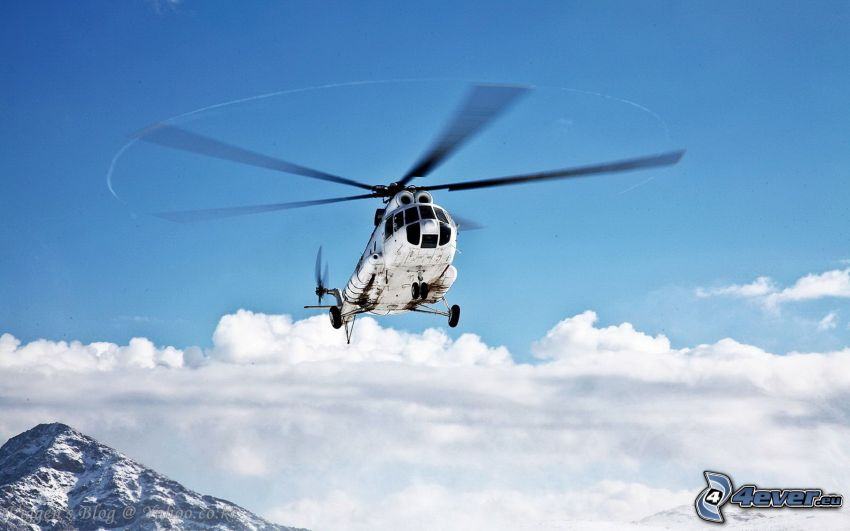 Mil Mi-8, clouds
