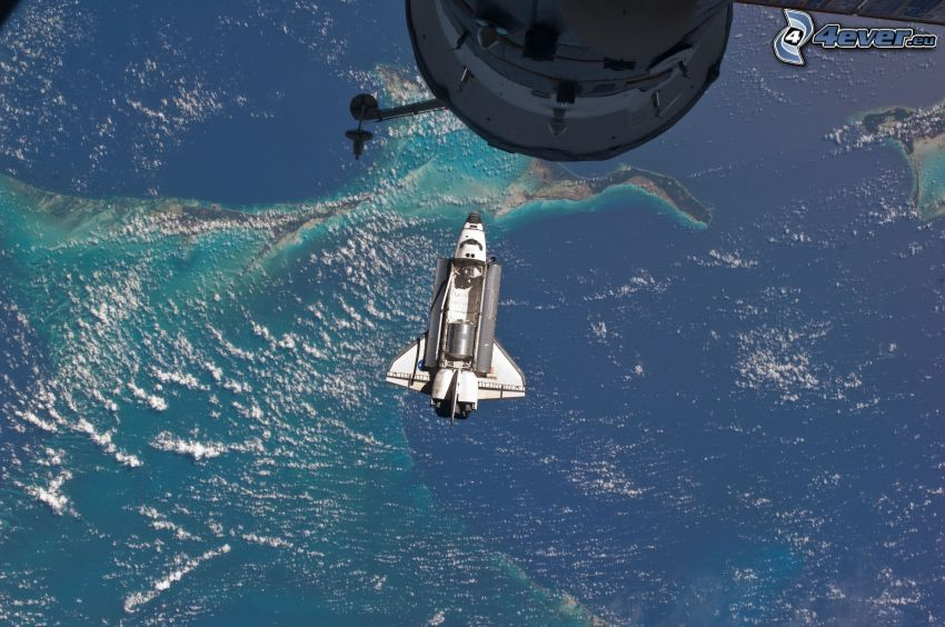 Space Shuttle Atlantis, International Space Station ISS, universe, Earth, STS 135