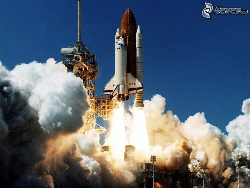 space shuttle start, universe