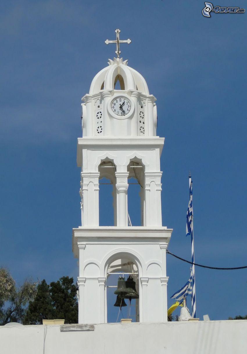 bell tower, clock
