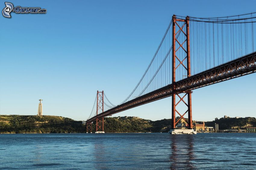 25 de Abril Bridge, cross, Lisbon