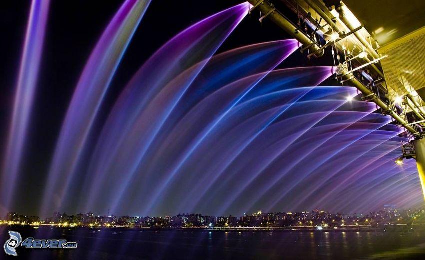 Banpo Bridge, fountain, colors