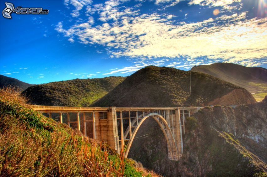 Bixby Bridge, mountain