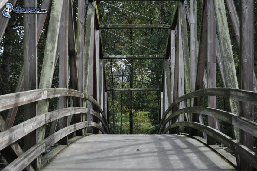 Bothell Bridge, wooden bridge