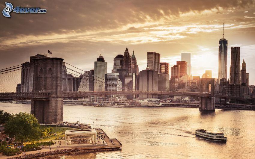 Brooklyn Nets, evening city