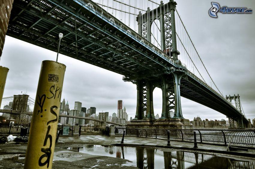 Manhattan Bridge, iron bridge