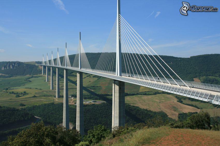 Millau Viaduct, highway bridge, France