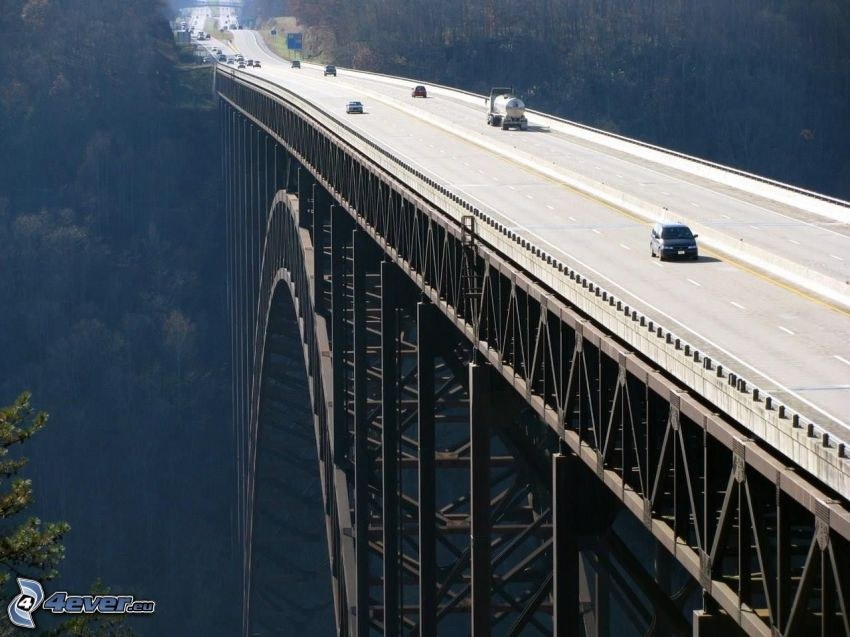 New River Gorge Bridge, highway
