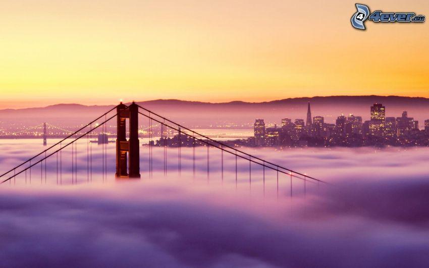 San Francisco, Golden Gate, bridge in fog