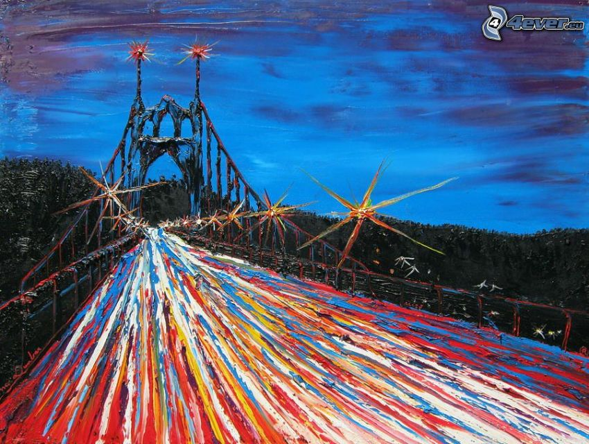 St. Johns Bridge, cartoon