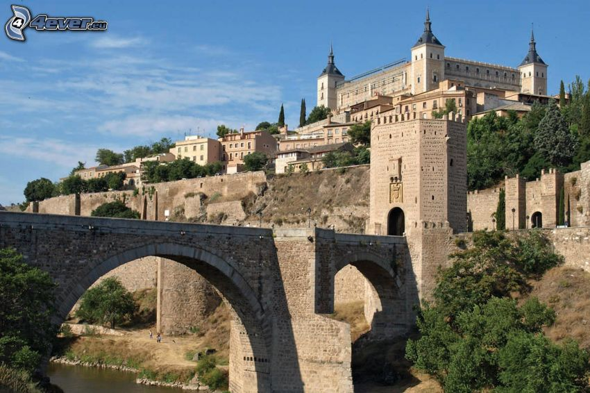 Alcázar de Toledo, Toledo, stone bridge