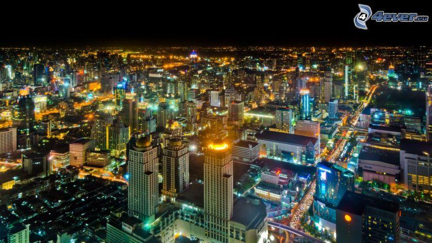 Bangkok, night city