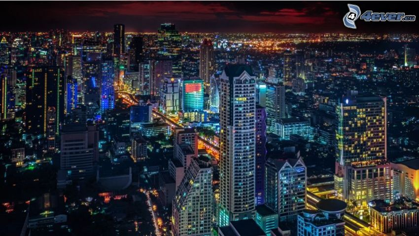 Bangkok, night city