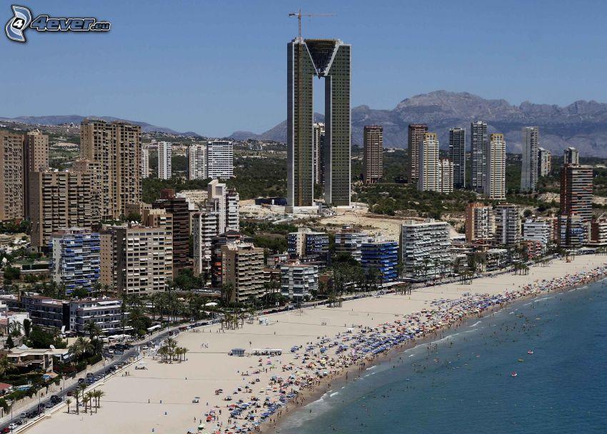 Benidorm, seaside town, sandy beach