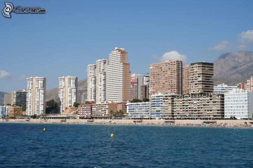Benidorm, seaside town, skyscrapers