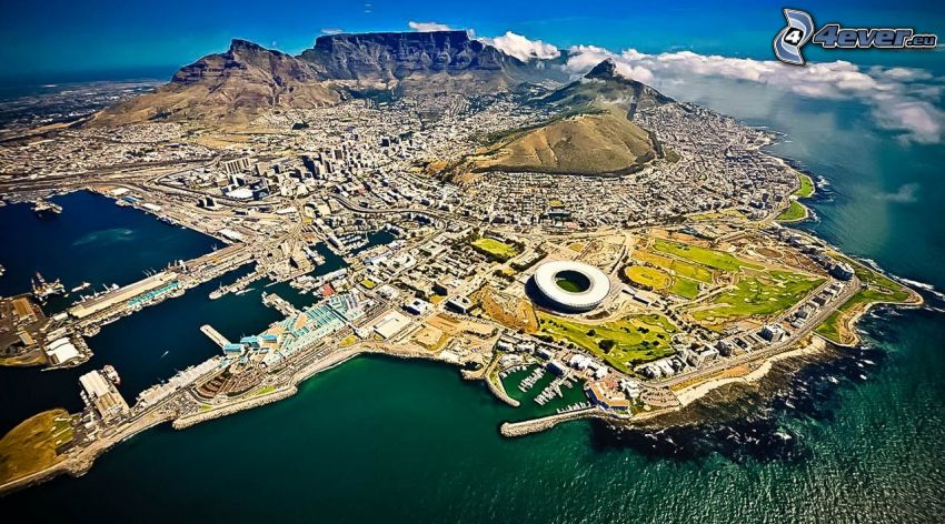 Cape Town, seaside town, island