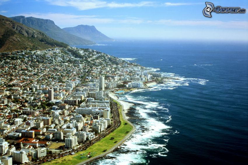 Cape Town, seaside town, mountain