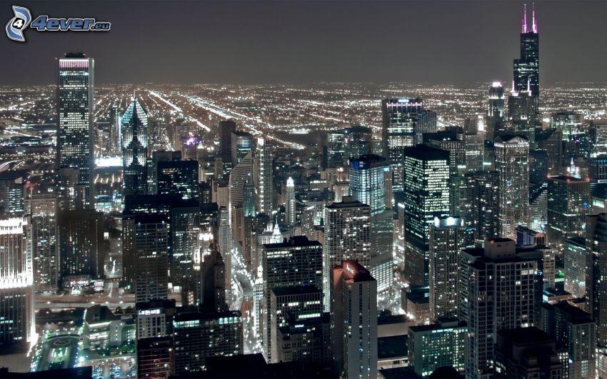 Chicago, night city