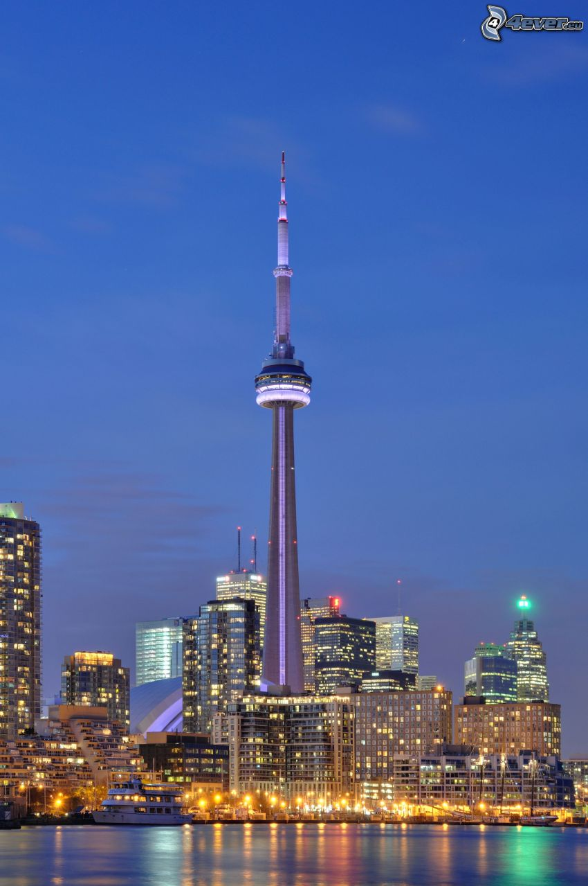 CN Tower, Toronto, night city