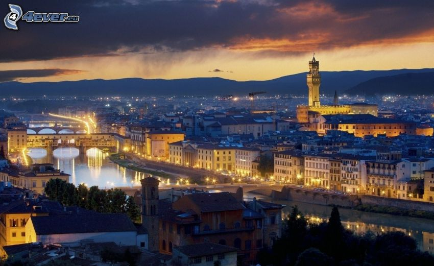 Florence, evening city