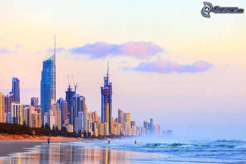 Gold Coast, sandy beach