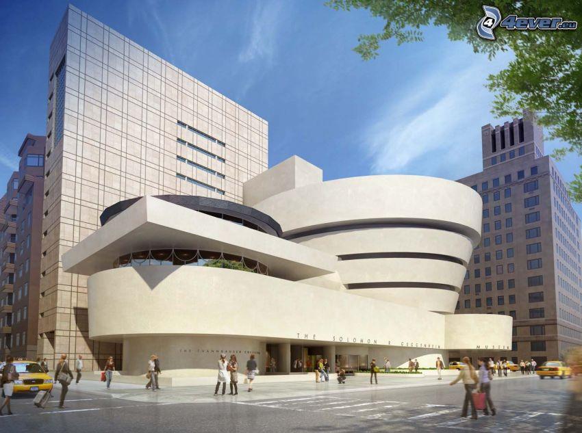 Guggenheim Museum, skyscrapers