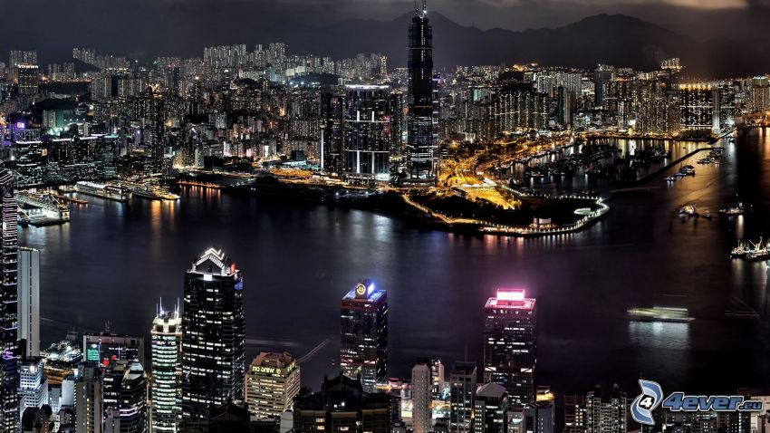 Hong Kong, night city