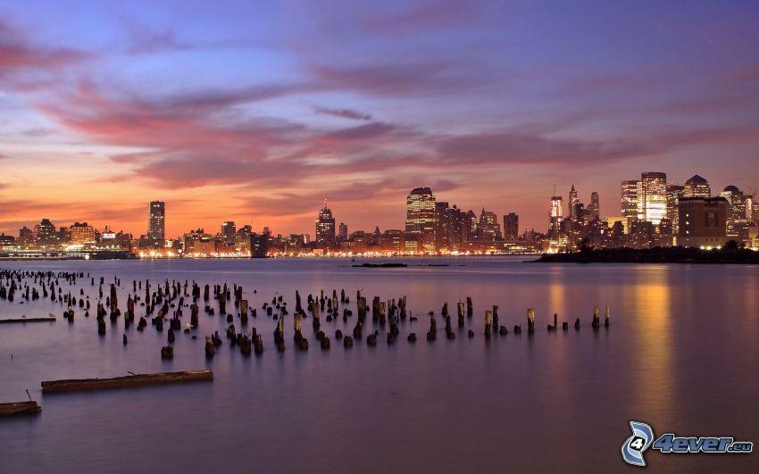 Jersey City, night city