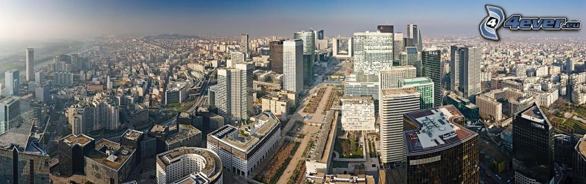 La Défense, skyscrapers, panorama, Paris