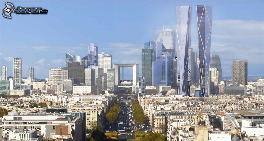 La Défense, skyscrapers, Paris