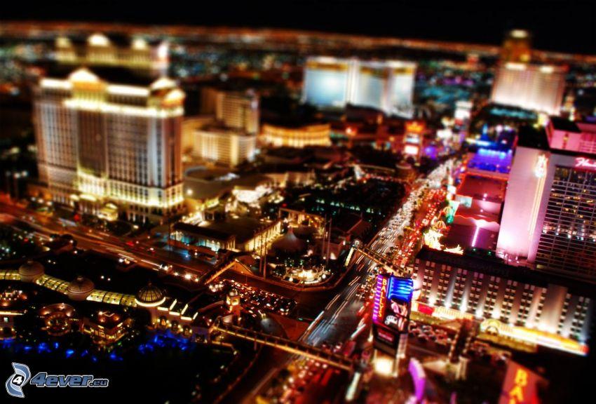 Las Vegas, night city, diorama