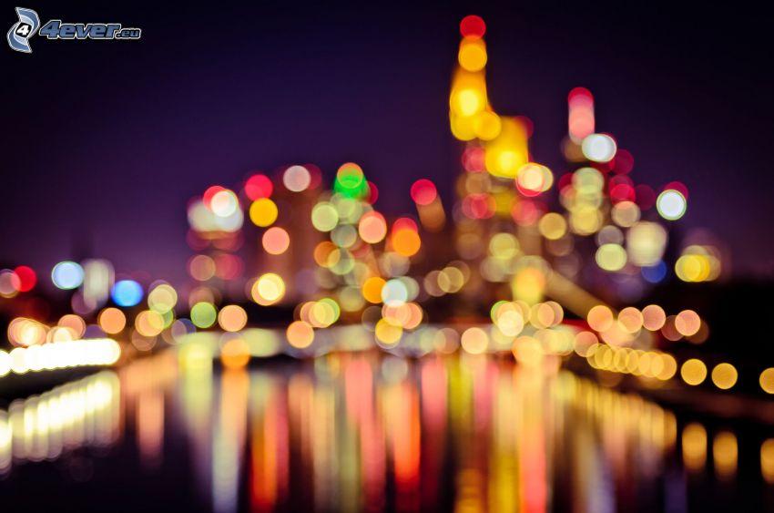 lights, night city