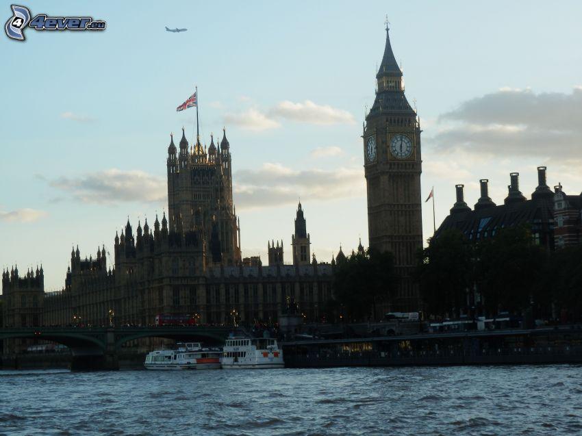 London, Big Ben, the British parliament, Thames