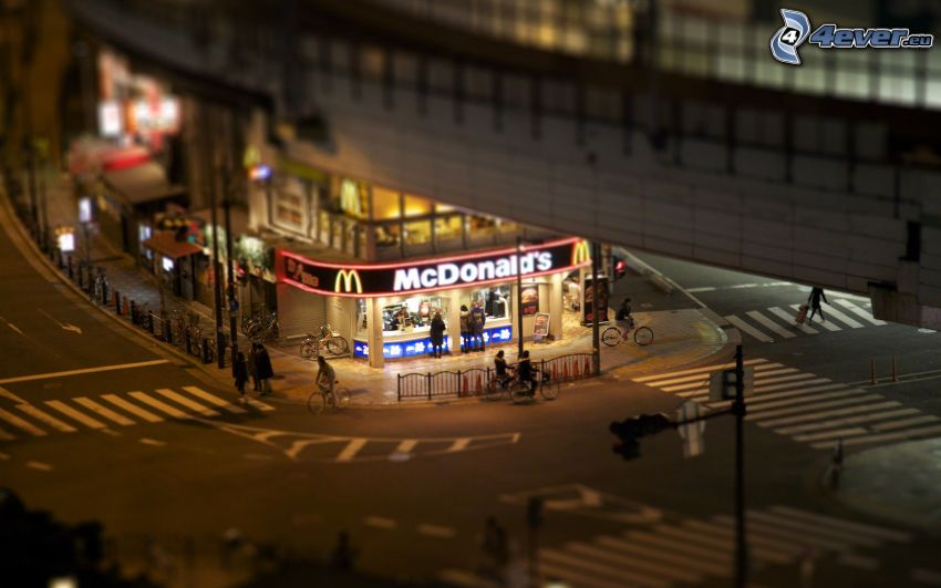 McDonald's, junction, diorama