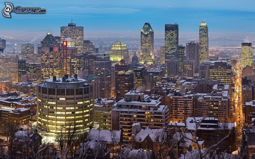 Montreal, evening city
